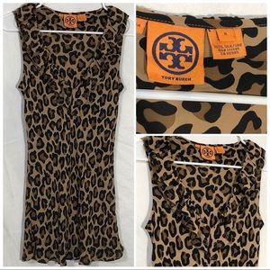 Tory Burch cheetah print tunic size 8
